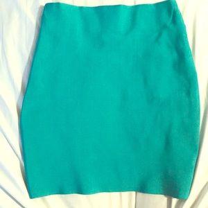 Turquoise body slimming skirt